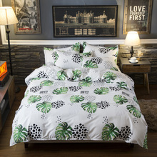 2019 New BEST luxury Gray strips Duvet Cover flat bed Sheets +Pillowcase King Queen full Twin Bedding Set 3/4pcs