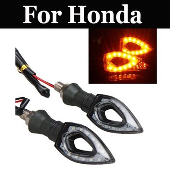 2pcs Motorcycle Turn Signal Indicators Amber Blinker Lights For Honda Cg 125 Cmx 250 450c Cn 250 Crf 250x 450x Crm 250ar 250r image
