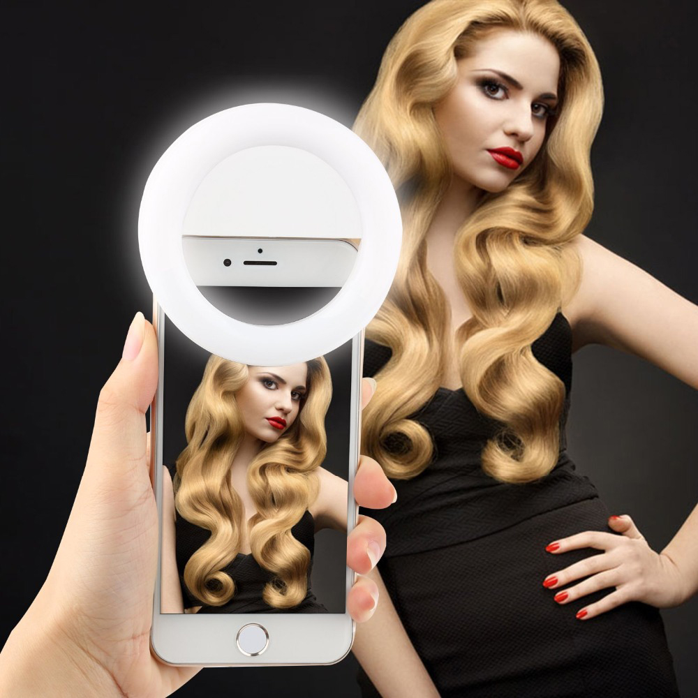 LED Ring Light Selfie Set Smartphone Night Dark Photography for iPhone 5 6s Plus Samsung
