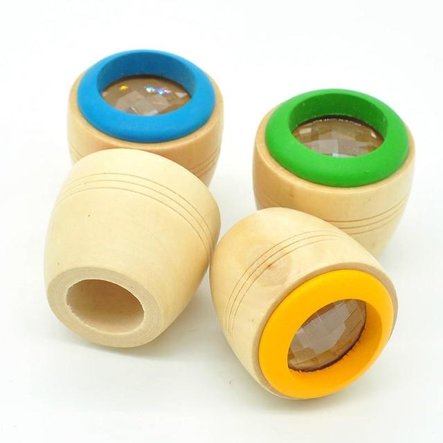 4 Pcs/set Random Delivery Pudcoco Best Wooden Educational Kaleidoscope Children Baby Learning Puzzle Sensory Toys