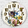 Modern 3d Flowers Living Room Decoration Wall Clocks Southeast Asia Home Decoration Watch Bedroom Decor Silent