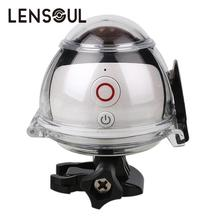 lensoul 360 Degree Panoramic Video Camera Camcorder Ultra HD Wifi Outdoor Waterproof Sports DV With Accessories