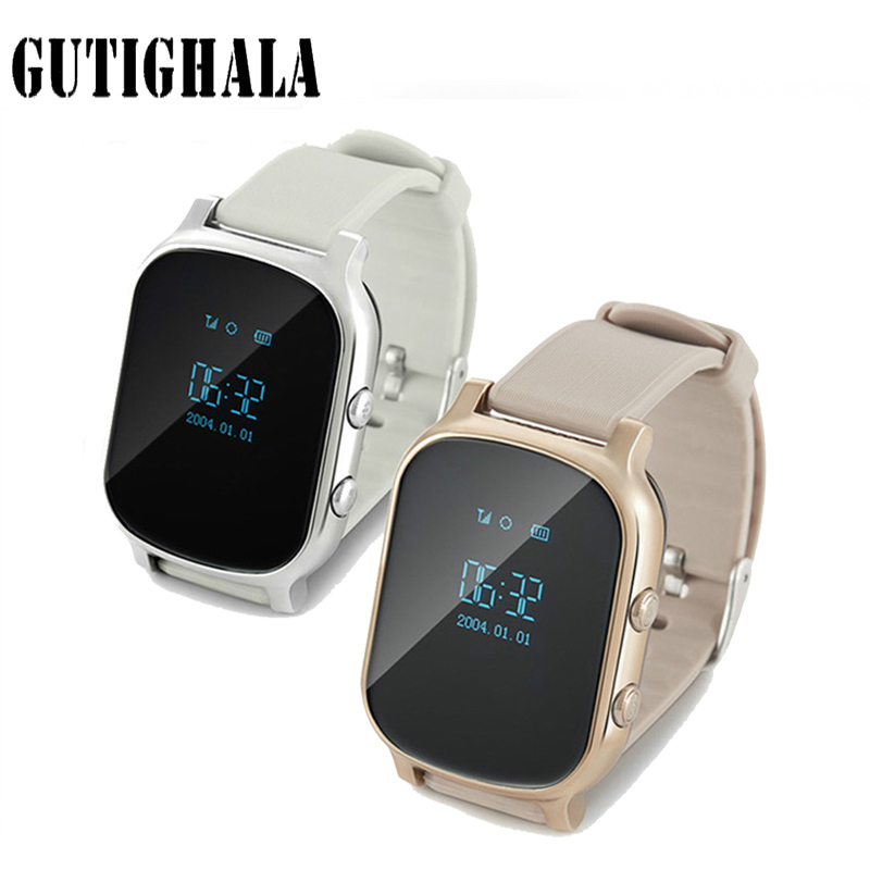 Gutighala GPS Enfants vieil homme Montre Smart Watch GPS WIFI SOS LBS Localiser Finder appel d'urgence GPS smartwatch T58 pour personnes âgées enfants