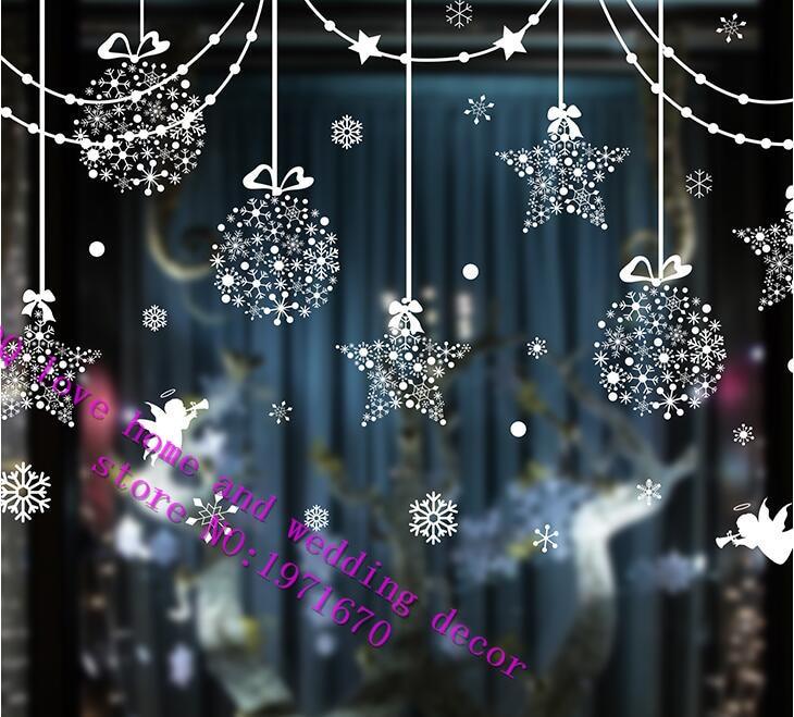 christmas decorations curtain bead dormitory window - Window And Door Christmas Decorations