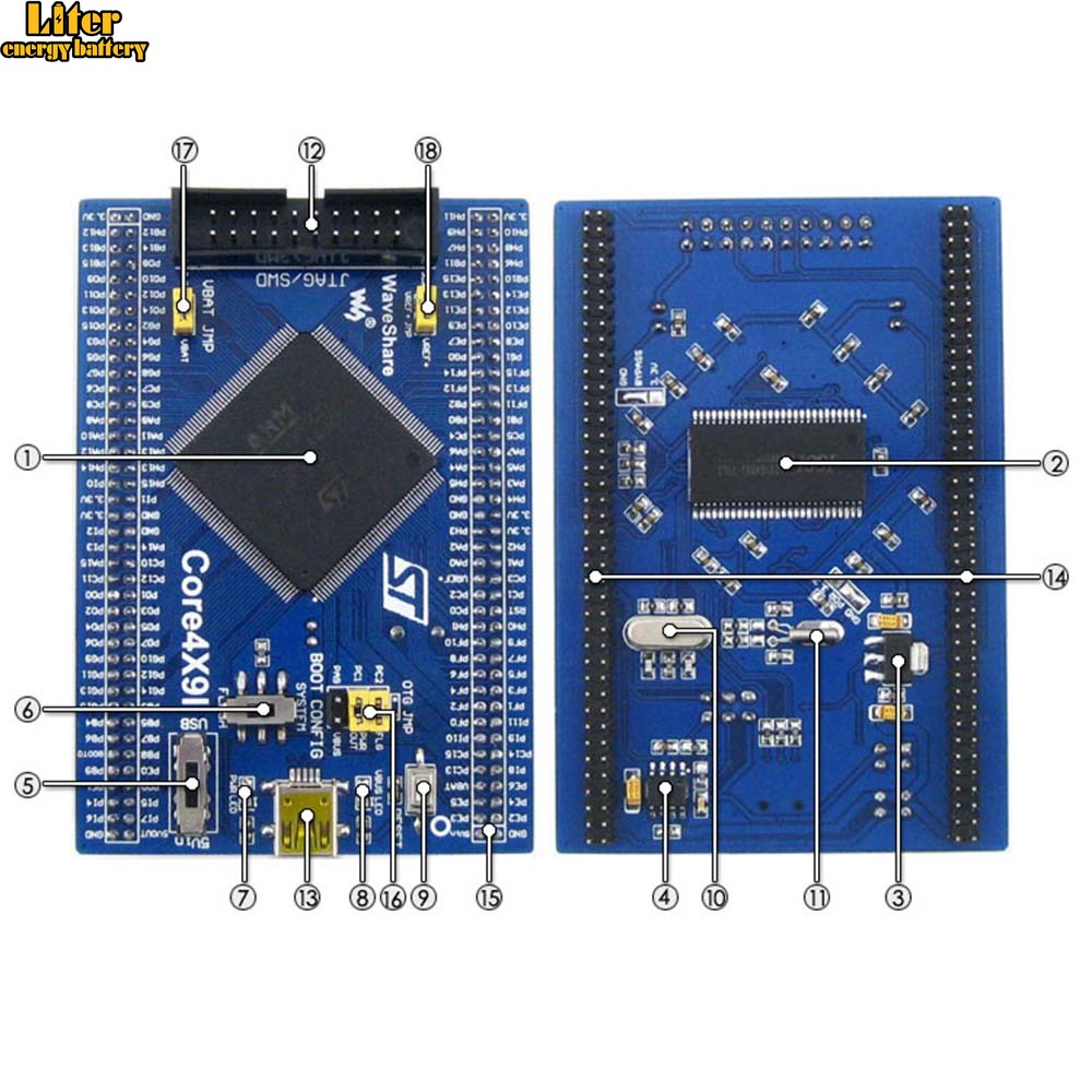 STM32 Core Board Core429I STM32F429IGT6 STM32F429 ARM Cortex M4 STM32 Development Board Kit With Full IOs Free Shipping