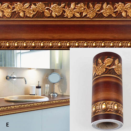 10400cm Bathroom Wallpaper Waterproof Waistline Wall Stickers Kitchen Toliet Paper Border Foot