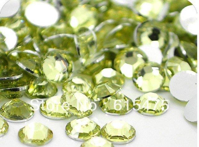 4mm Jonquil Color,SS16 crystal Resin rhinestones flatback,Free Shipping 50,000pcs/bag