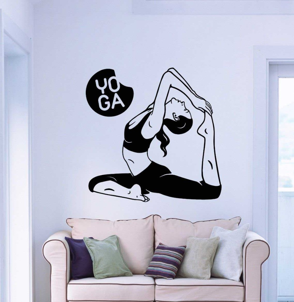 Yoga Wall Art popular wall sticker mural buddha-buy cheap wall sticker mural