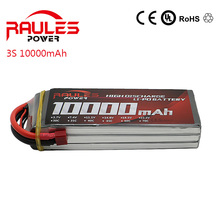 High Power Lipo Battery 11.1V 10000MAH 25C  AKKU LiPo RC Battery For Rc Helicopter Car Boat  free shipping