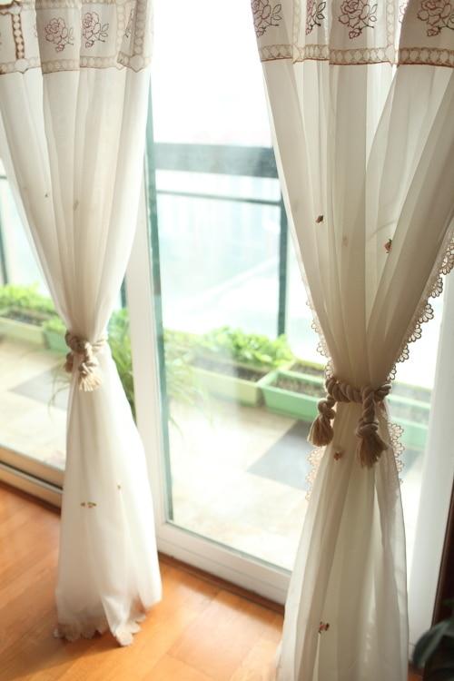 style cor en blanc rose r ve double fil salon rideau pays style princesse chambre fran ais. Black Bedroom Furniture Sets. Home Design Ideas