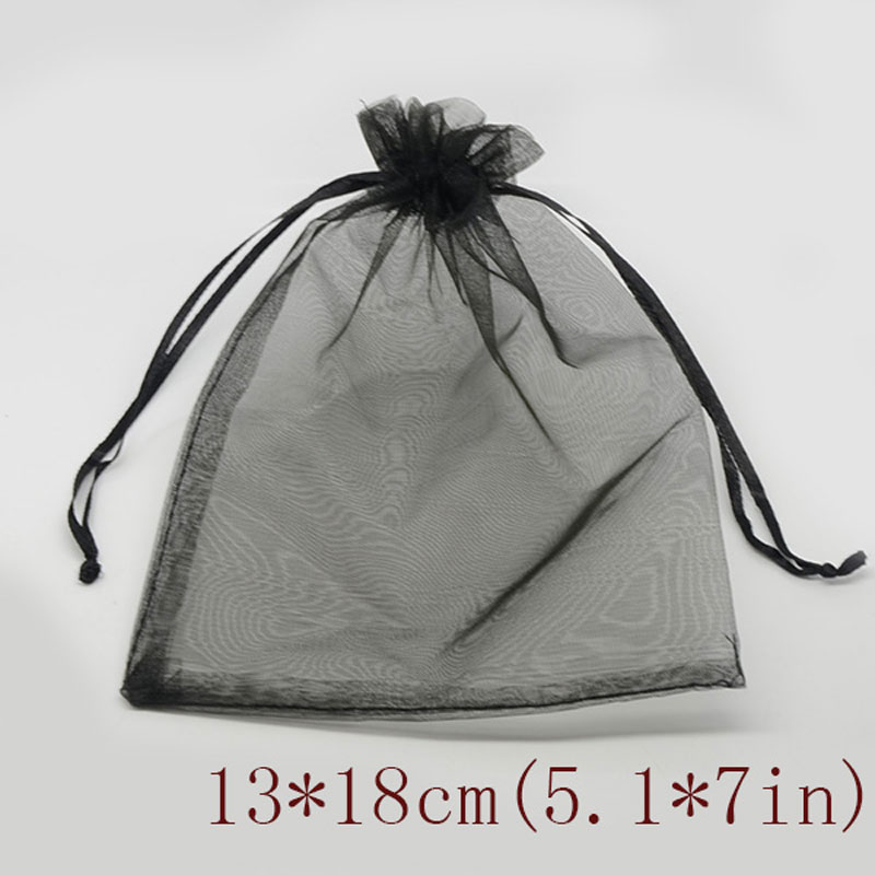 50 шт. 7x9 9x12 10x15 13x18 см сумки из органзы ювелирные изделия Упаковка Сумки Свадебная вечеринка украшения Drawable Сумки Подарочные сумки 24 цвета