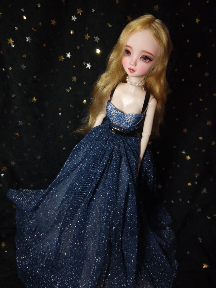 T02-X500 Blyth Doll clothes 1/3 1/4 bjd 1/6 dolls Accessories blue Star wedding skirt 1pcs T02-X500 Blyth Doll clothes 1/3 1/4 bjd 1/6 dolls Accessories blue Star wedding skirt 1pcs