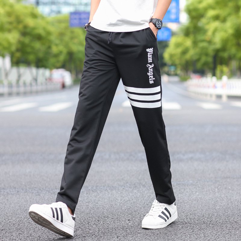 2018 New Spring Jogger Pants Men Cotton Patchwork Sweatpants Fitted Sweat Pants Active Casual Trousers Track Pant 4XL