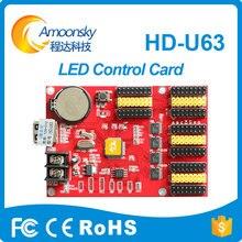 Kim loại led hiển thị kỹ thuật số clock led ánh sáng có dấu hiệu dẫn đầu bảng điều khiển cho dấu hiệu led hiển thị control card u63