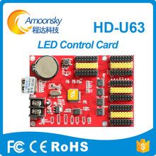 Metal led ekran dijital saat led ışık paneli led işareti pano için led ekran kontrol kartı u63