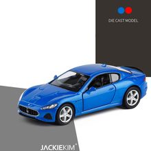 1:36 Scale Maserati GT Sports Car Diecast Car Model Toy With Pull Back Blue Red For Kids Birthday Gift Collection Free Shipping(China)