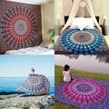 Hot new indian boho hippie mandala tapiz home pared decorativos colgantes toalla de playa yoga colcha estera mantel 210x148 cm