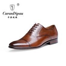 2017 Nuevo de Alta Calidad de Cuero Genuino Hombres Zapatos Brogues, Cordones Bullock Negocio Hombres Zapatos de los Oxfords Hombres Visten Zapatos de los Planos