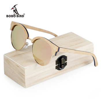 BOBO BIRD Wooden Ladies Sunglasses Women Polarized Sun Glasses UV400 in Wooden Box 1