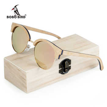 BOBO BIRD Wooden Ladies Sunglasses Women Polarized Sun Glasses UV400 in Wooden Box - DISCOUNT ITEM  45% OFF All Category