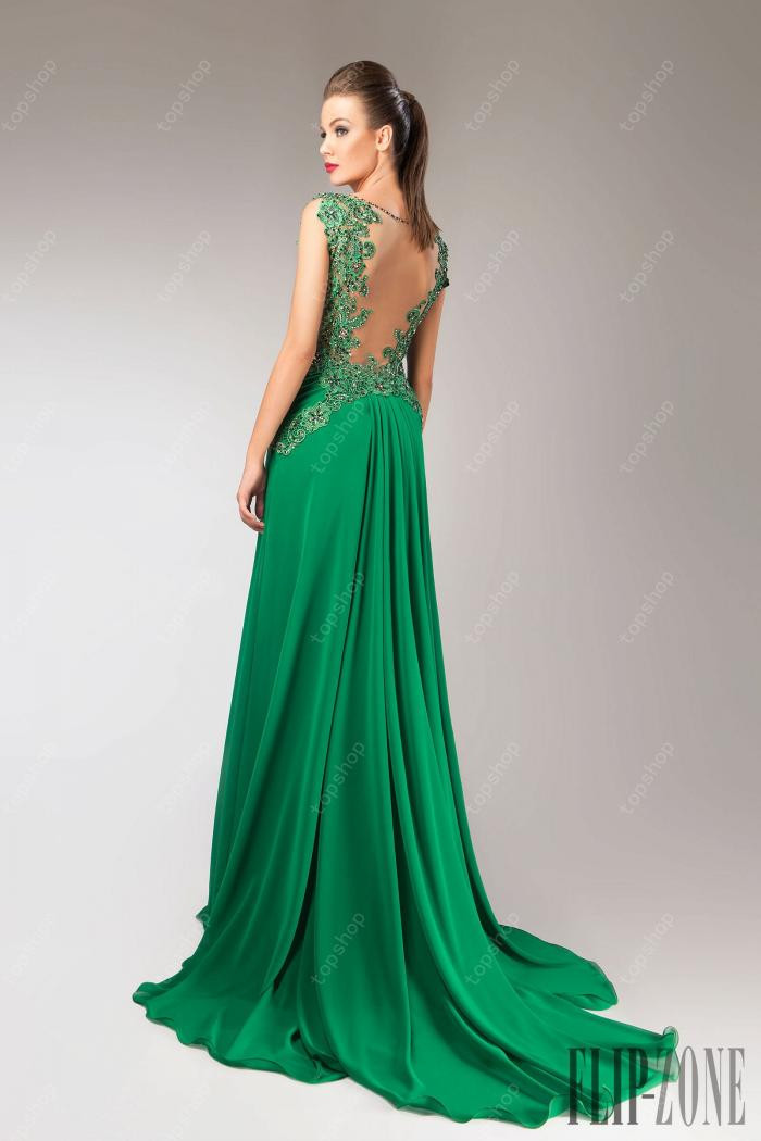 Fast Shipping 2015 Elegant Long Prom Dresses See Through Back Sexy