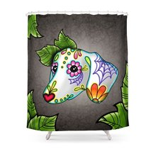 CHARM HOME Day Dead Dachshund Waterproof Polyester Fabric
