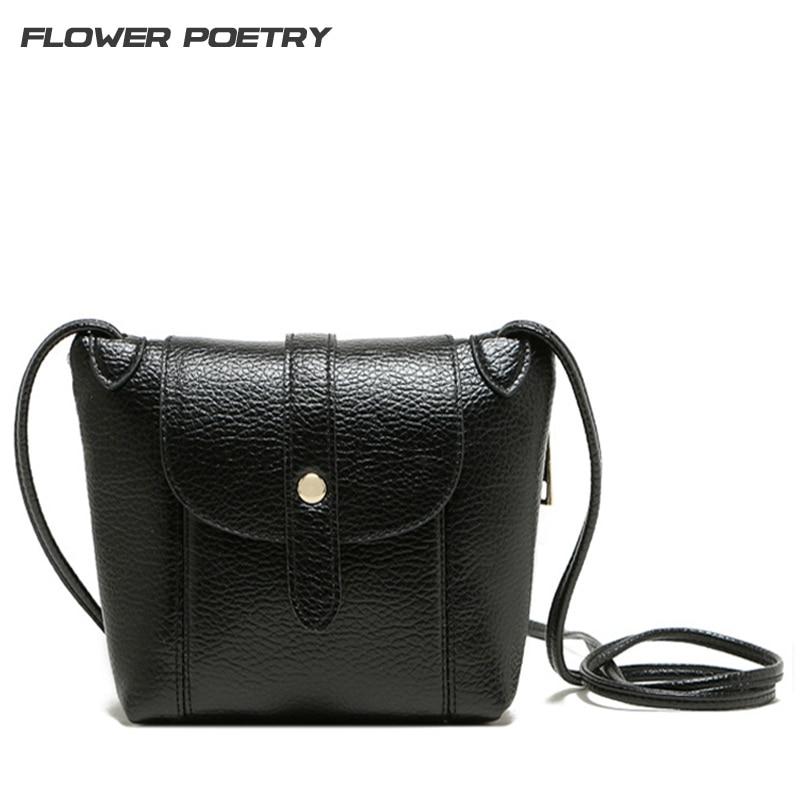 купить 2016 Women Leather Handbags Famous Brand Women Small Messenger Bag Female Crossbody Shoulder Bag Clutch Purse Bag Bolsa Feminina недорого