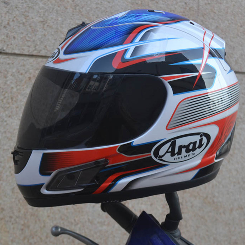 Discount Motorcycle Gear >> Free shipping motorcycle helmet full helmet ARAI helmet Motorcycle Full Face Helmet ECE blue ...