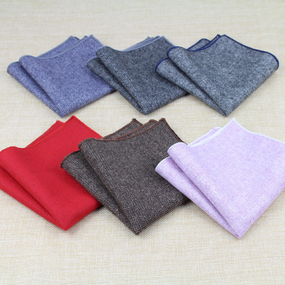 Paisley Square Pocket for Men Paisley Pattern Wool Cotton Hankerchief Colorful Gentlemen Wedding Designer Pocket Square(China)