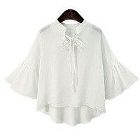 Chiffon Blouse White Shirt Women Blouses Shirts Summer Tops Blusas Mujer De Moda 2017 Chemise Femme