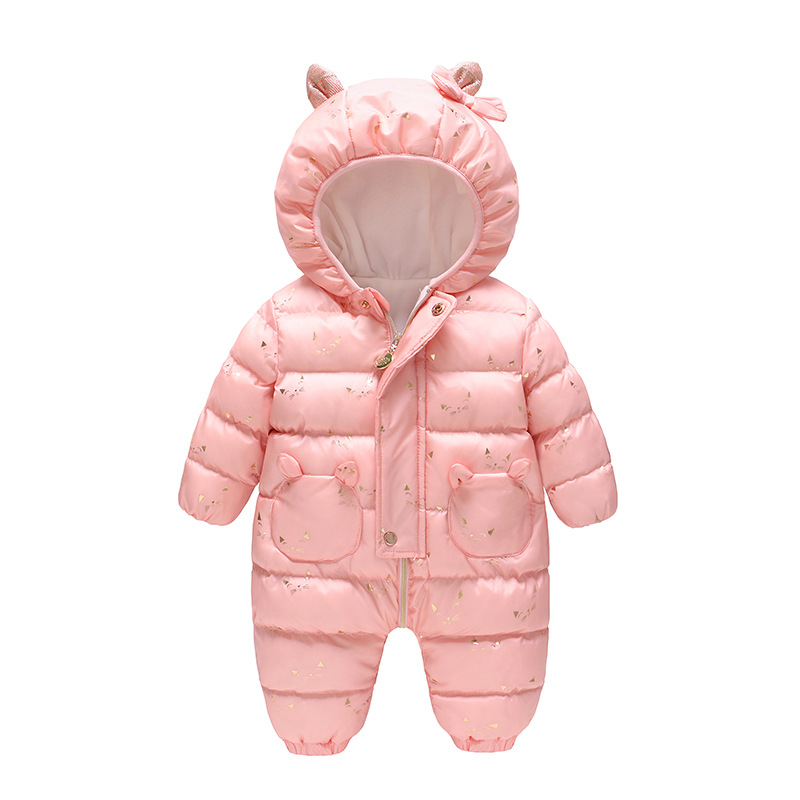 2019 New Pink and Blue Winter Clothes Animal Cat 0-12 M Baby Romper Clothes Winter Jumpsuit Down Romper Clothes Newborn Size2019 New Pink and Blue Winter Clothes Animal Cat 0-12 M Baby Romper Clothes Winter Jumpsuit Down Romper Clothes Newborn Size