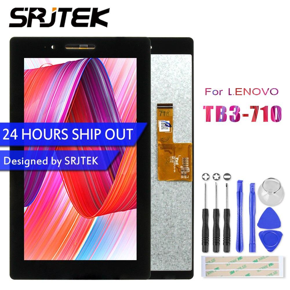 Srjtek LCD Display Touch Screen Digitizer For Lenovo Tab 3 7.0 710 Essential Tab3 TB3-710 TB3-710F TB3-710L TB3-710I Assembly