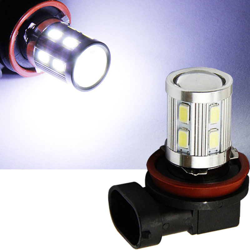 WTS 2pcs H11 H8 Car LED Fog Driving <font><b>Lamp</b></font> Light Bulb Auto DRL lights 12V white 6000k For Toyota <font><b>Peugeot</b></font> 407 2008 <font><b>Peugeot</b></font> <font><b>301</b></font> 3008 image