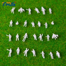 1:200 scale model  miniature white figures Architectural model human scale HO model ABS plastic peoples