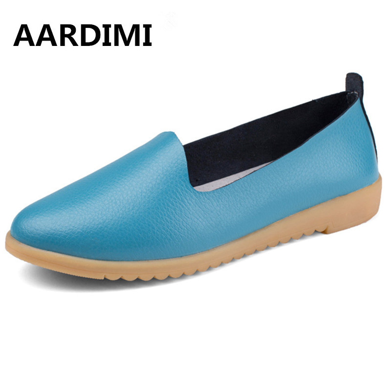 New arrival spring solid women flats shoes genuine leather vintage women loafers casual 5 colors slip on flat shoes woman new arrival vintage autumn women flats shoes 3 colors genuine leather casual shoes women round toe flat with women s loafers