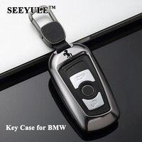 1pc SEEYULE Car Key Case Cover Aluminum Alloy Key Shell Storage Bag Protector for BMW 1 2 3 4 5 6 7 Series X3 X4 M5 M6 GT3 GT5