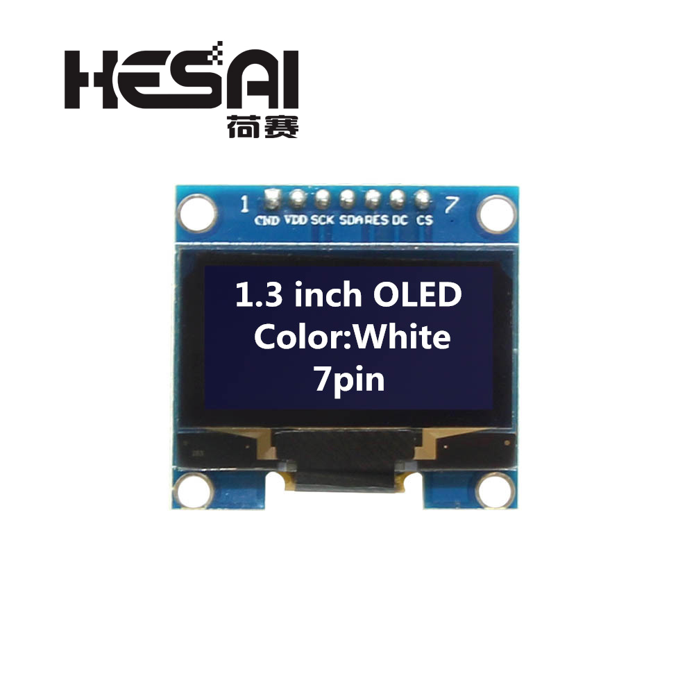 <font><b>1.3</b></font> <font><b>inch</b></font> <font><b>OLED</b></font> Module White Color 128X64 7 Pin <font><b>OLED</b></font> LCD LED Display Module <font><b>1.3</b></font> SPI Communicate for arduino Diy Kit image