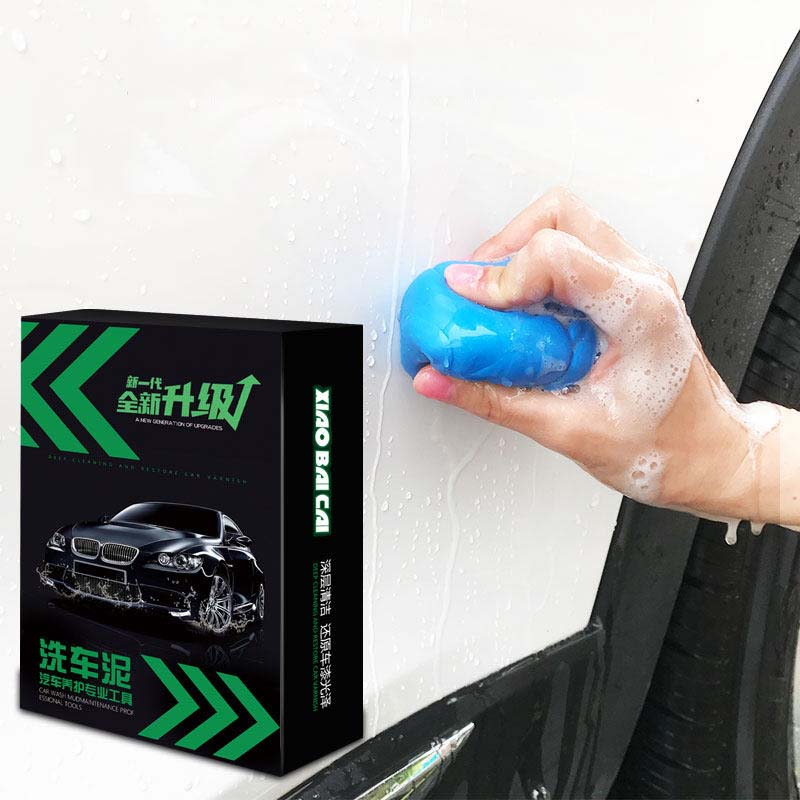 Cura Auto Detailing Argilla Pulizia Auto Blu 180g Magic Clean Argilla Bar Auto Cleaner Spugne Accessiores kit di Lavaggio Top qualità