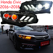 2016 2017 2018y Car Styling for honda Civic Headlight car accessories HID xenon/LED DRL fog for Civic headlamp