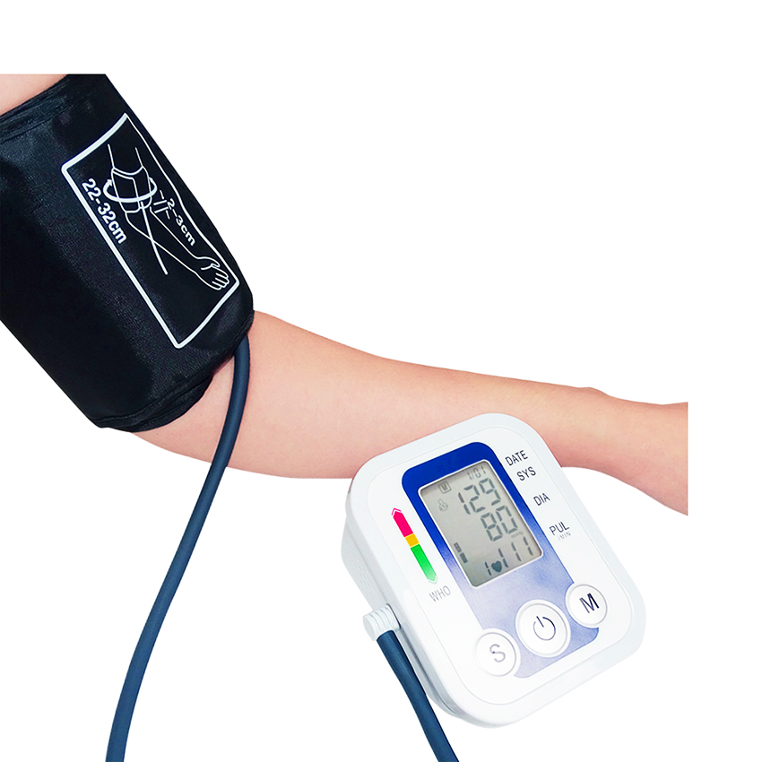 Beurha Digital Arm Blood Pressure Pulse Monitor Health Care Tonometer Meter Sphygmomanometer Upper Blood Pressure Monitors blood pressure monitor automatic digital manometer tonometer on the wrist cuff arm meter gauge measure portable bracelet device