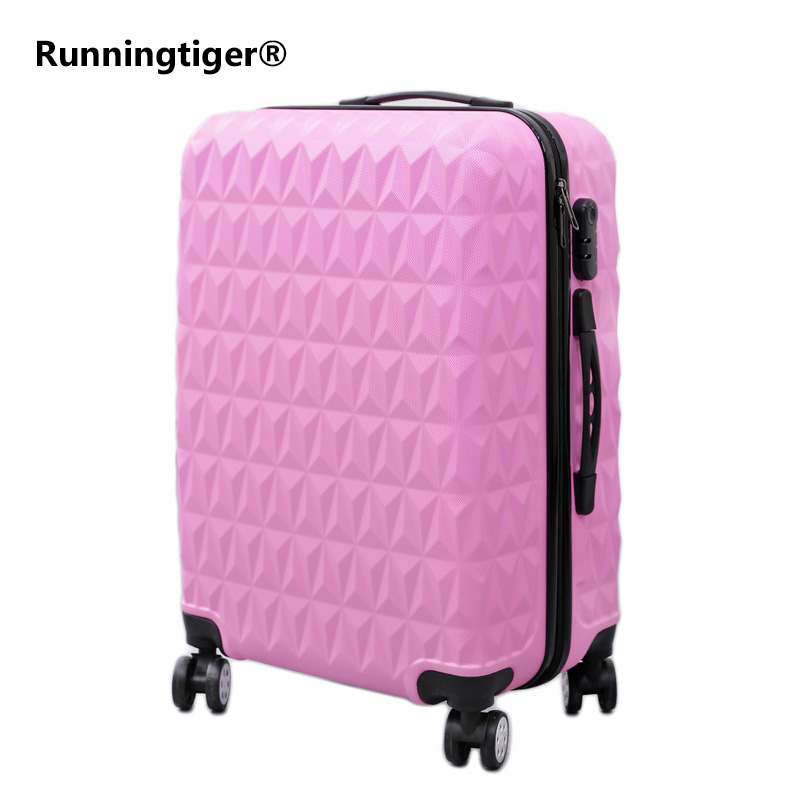 цена на Rolling Luggage Spinner Wheels 24 inch Suitcase Trolley Men ABS+PC Travel bag Trunk Student Password box Women Carry On Luggage