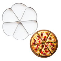 6pcs Sector Stainless Steel Mousse Cake Making Molds Practical Pizza Fruit Pie Cookie Mould DIY Pastry Dessert Decoration Mold