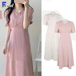 Image 1 - Mùa hè Đầm voan Người Phụ Nữ Hoa Kỳ Nghỉ Ngày Dễ Thương Hàn Quốc Nhật Bản Phong Cách Quần Áo Thiết Kế MỘT Dòng THẮT NƠ ĐẦM màu hồng 603