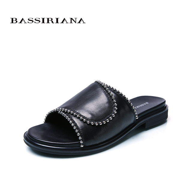BASSIRIANA new 2018 Genuine Pelle sheepskin slippers ... Donna scarpe ... slippers a872d6