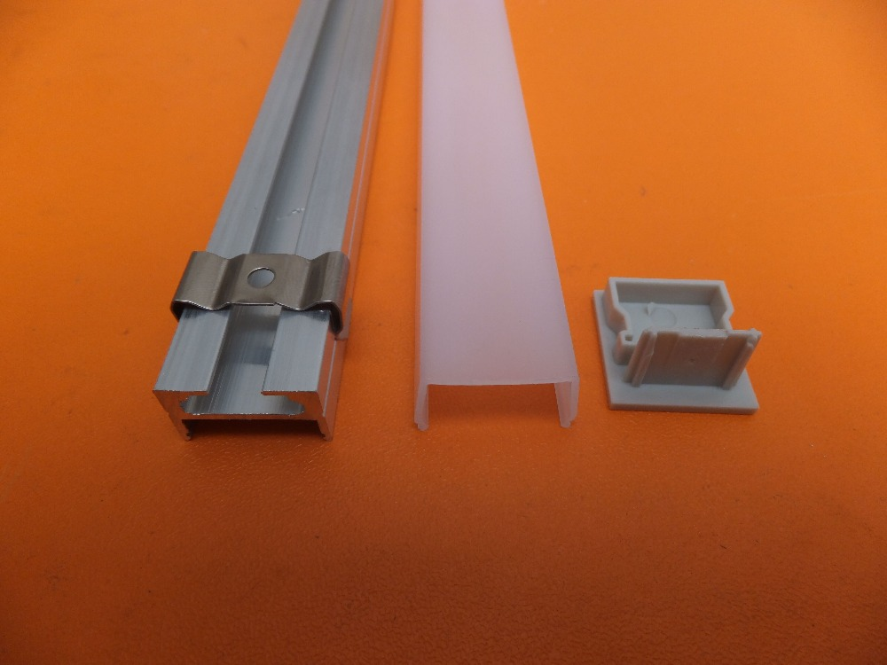 Free Shipping 2.5m/pcs 120m/lot Modern low profile slim ceiling batten light aluminium housing with milky cover