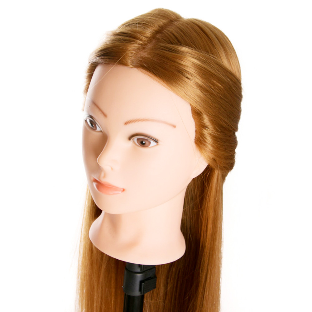 Hairdressing Dolls Head Wig Long Hair Practice Training Professional Salon Styling CD88