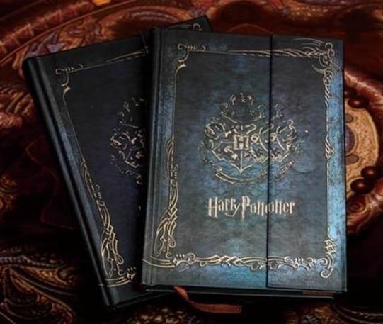 Diario de cuaderno de Harry Potter Vintage con 2019-2018-2017 calendario funda dura Retro Agenda planificador libro regalo