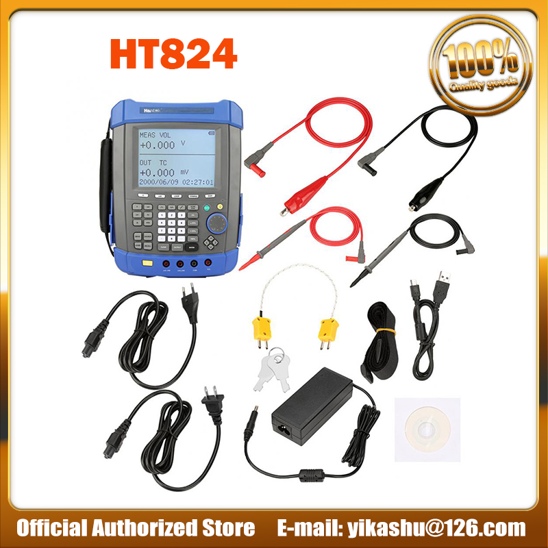 Hantek HT824 Multifunction Process Calibrator  High precision Five And A Half Signal Source Multimeter Voltage Flow Resistance-in Multimeters from Tools    1