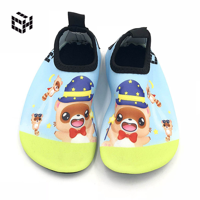 5e4176a13 Kids Non-slip Water Shoes Sea Wade Footwear Barefoot LightWeight Aqua Socks  For Beach Pool Children Sandy Beach Slippers New