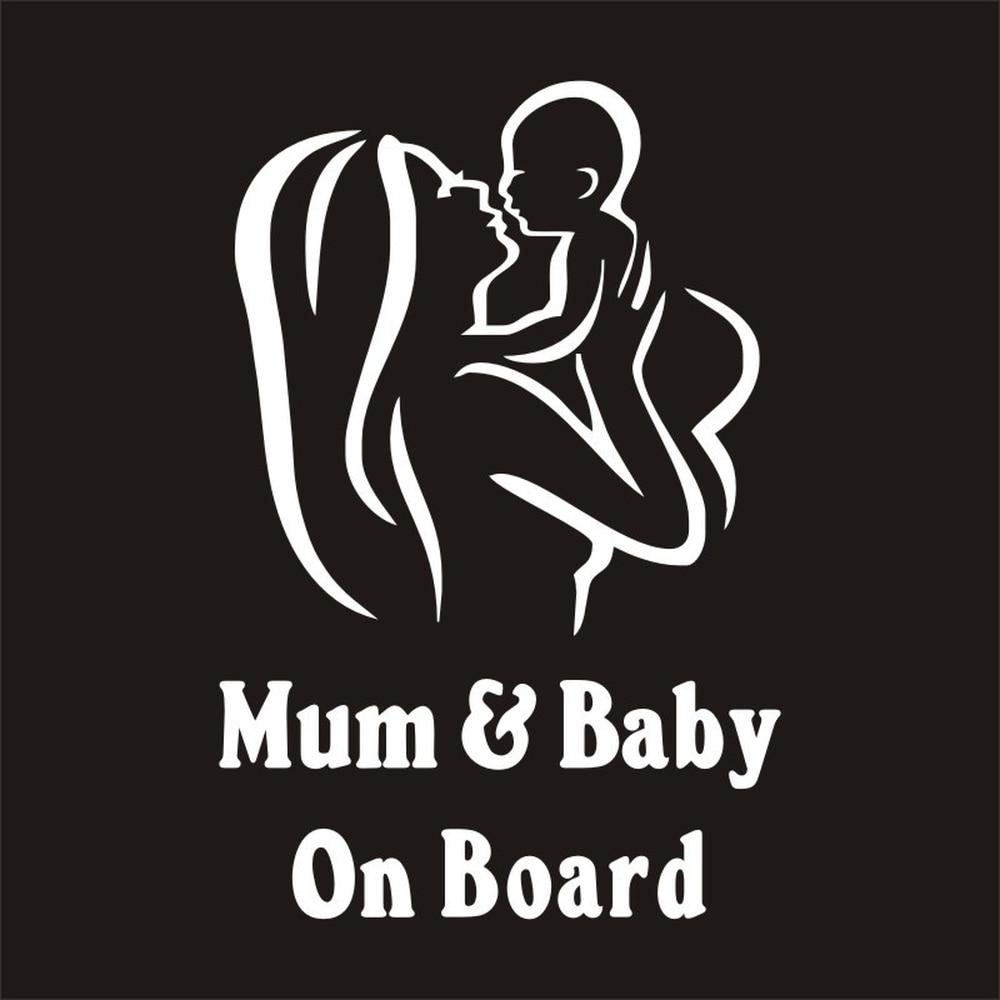 Mum Baby On Board Warning Car Stickers Decals Emblem For Citroen Volvo Saab Seat Skoda Bentley Land Rover Maybach Chevrolet